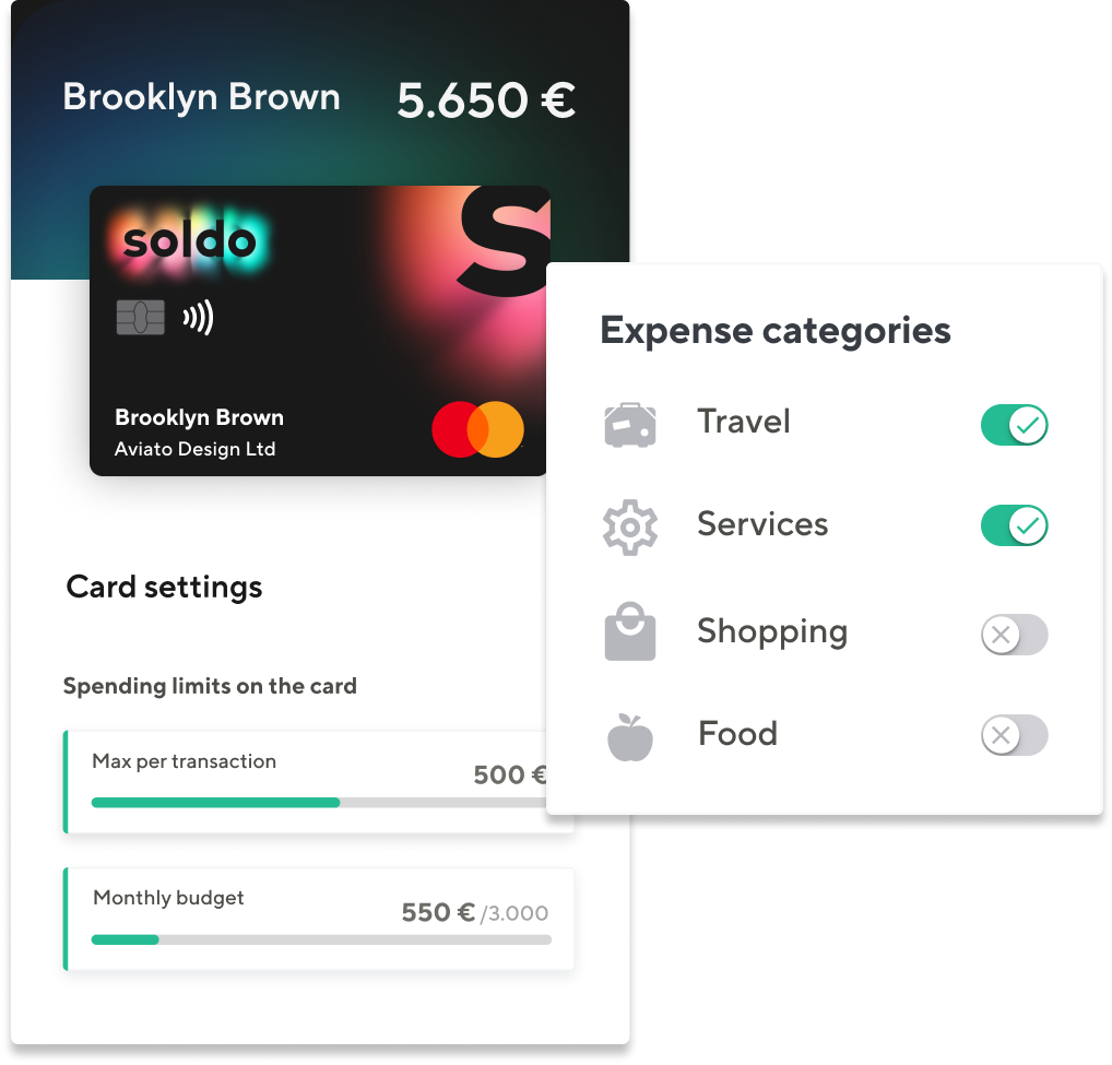 expense categories homepage